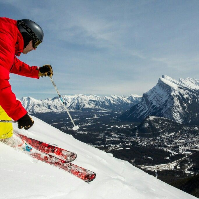 Breathtaking views from Mount Norquay! Photo credit Banff Lake Louise Tourism /  Paul Zizka  #ski  #snowboard  #skican  #Banff