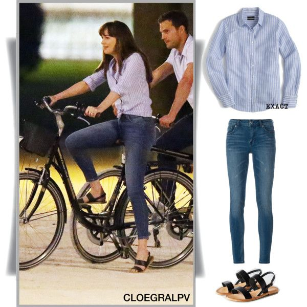 Dakota Johnson // Anastasia Steele by clo-egral on Polyvore featuring polyvore, mode, style, J.Crew, BLK DNM, Urban Outfitters, fashion, clothing, jcrew and anastasiasteele