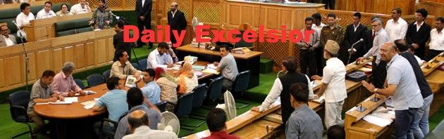 Chief Minister Mehbooba Mufti and National Conference chief Omar Abdullah had a heated argument in Jammu and Kashmir assembly today over the issue of proposed colony for ex-servicemen in Srinagar.EXcelsior\Photo
