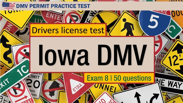 Drivers license test: Iowa DMV fines and limits permit practice exam 8