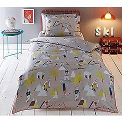 Baker by Ted Baker - Multicoloured 'Skiing Bears' bedding set