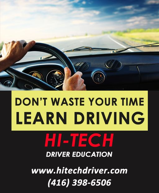 Driving School North York Don't waste time and learn the driving from us. For any details visit our site: http://www.hitechdriver.com and call at: (416) 398-6506. #drivingschool #driving #drivingschoolnorthyork