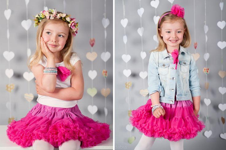 Tutu Pettit Skirt Love & Joy róż 0-2latka - Ubranka na chrzest - Abrakadabra Sklep