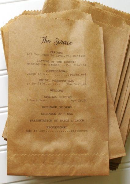 5 Super Creative Wedding Program Ideas