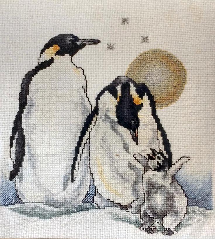 #puntodecruz, #crosstitch, #pinguinos