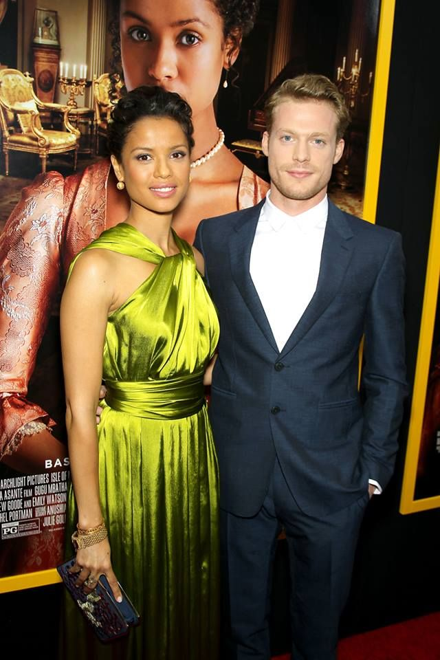 Belle's Gugu Mbatha-Raw and Sam Reid — at The Paris Theater.