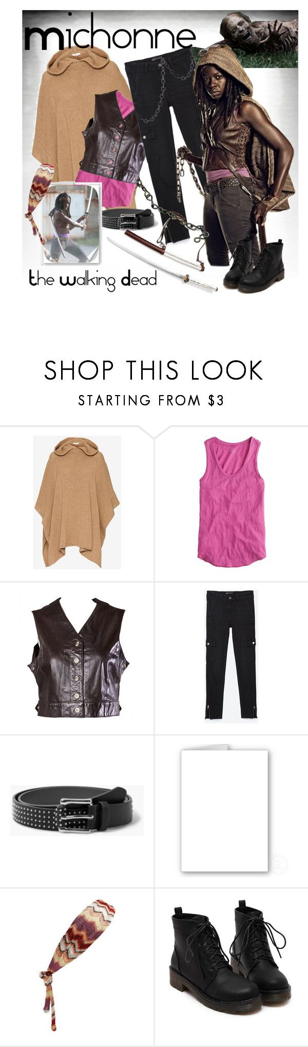 """""""Michonne: The Walking Dead Halloween Costume"""" by tanyabishop-icovetfashion ❤ liked on Polyvore featuring See by Chloé, J.Crew, Emanuel Ungaro, Zara, MANGO, Missoni, thewalkingdead, michonne and halloweencostume"""