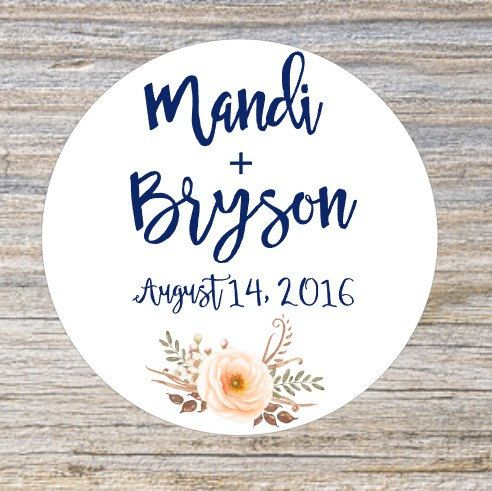 New custom wedding stickers perfect colors for your upcoming wedding