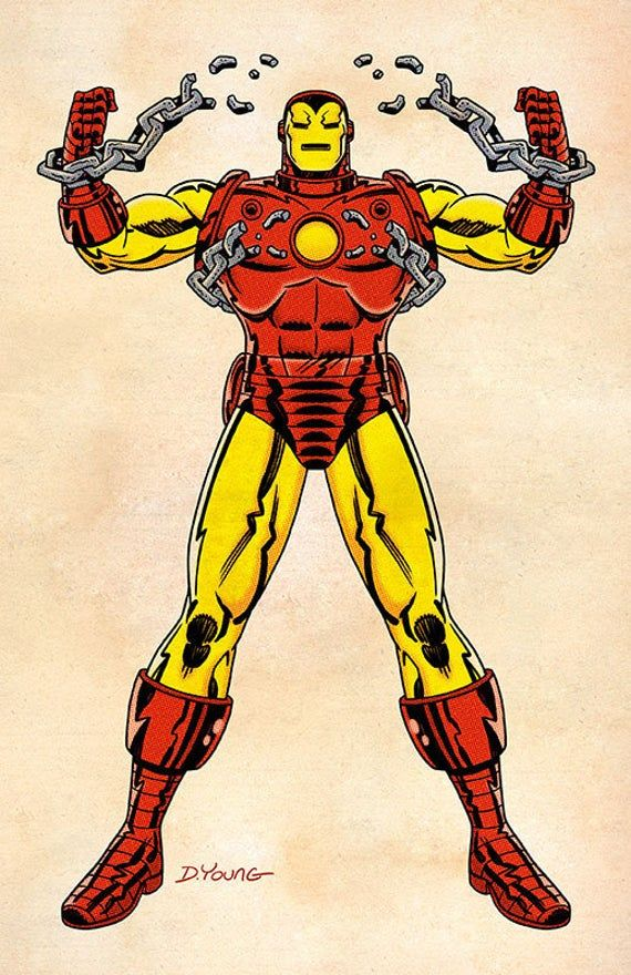 Iron Man Signed 11 X 17 Color Print By Darryl Young Etsy In 2020 Iron Man Avengers Coloring 11x17