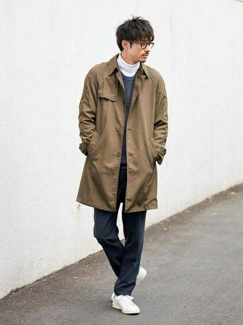 LE JUN イオンモール幕張新都心店 | Kazukiさんのステンカラーコート「LE JUN メモリーステンカラーコート」を使ったコーディネート