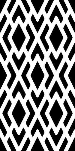 Modern GEOMETRIC Pattern WALL STENCIL, EASY, Reusable DIY Wall DECOR | OliveLeafStencils - Handmade Supplies on ArtFire