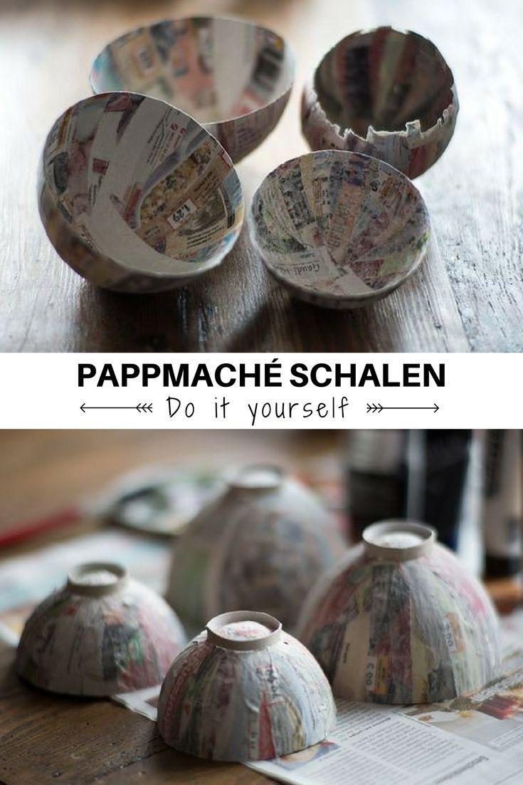 diy - pappmachè-schalen aus altpapier | diy-ideen | pinterest