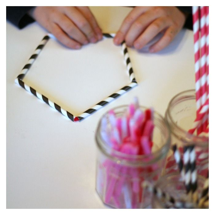 Valentine's Day Polygon Shapes Building Activity