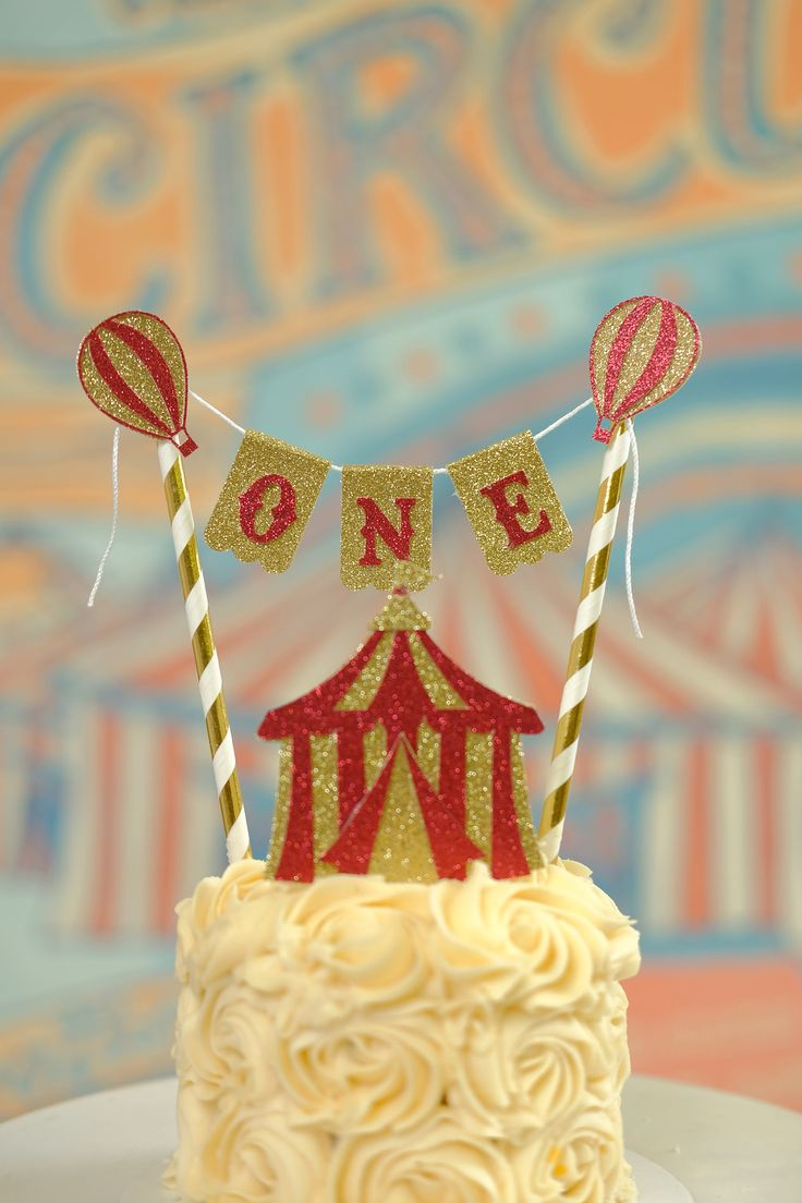 Vintage Circus cake topper, circus cake topper, circus party, circus tent cake topper by SmashCaked on Etsy