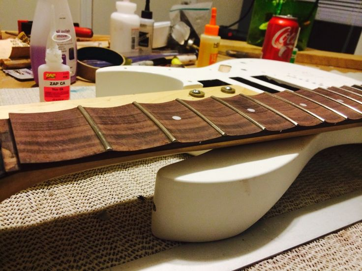 DIY Scalloping a guitar fretboard