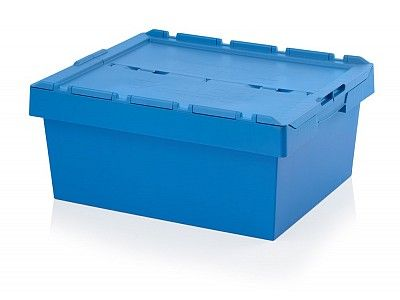98 Litre Stack - Nest Attached Lid Container - Lidded Plastic Storage Box