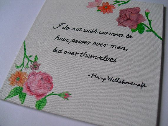 Mary Wollenstonecraft quote feminist art acrylic on by JenTaArt