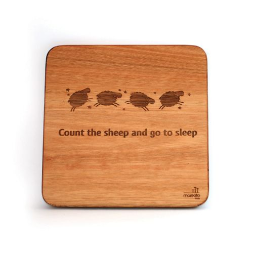 """Count the sheep and go to sleep."" A lovely, calming wall art design for a child's room or nursery."