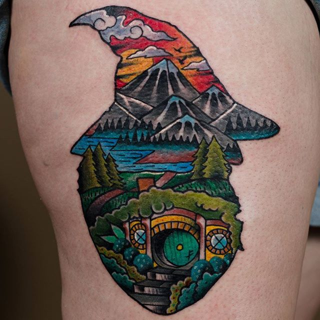 Lord of the rings fan tattoo by Ben Petee