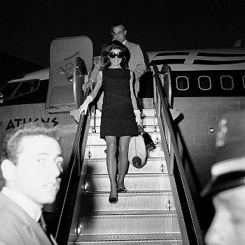 Jacqueline Kennedy Onassis arrives at JFK September 20, 1969