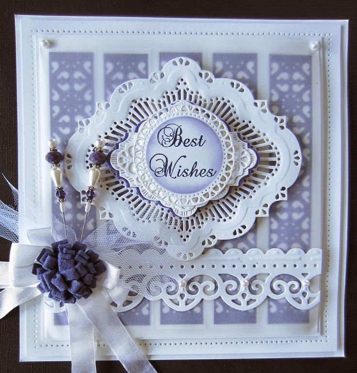 Creative Expressions Best Wishes Card - Create and Craft USA