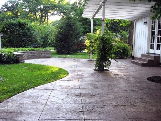 stamped concrete patio concrete patios unique concrete design moline il