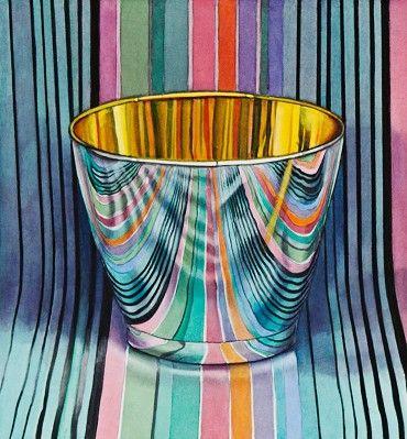 Jeanette Pasin Sloan  Mirror Glass, 2013 Gouache & Watercolor On Paper 11 in x 10 in  #018279