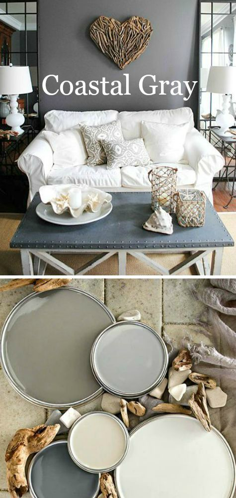 Decorating with a coastal gray color scheme inspired by - Colour schemes for living rooms 2015 ...