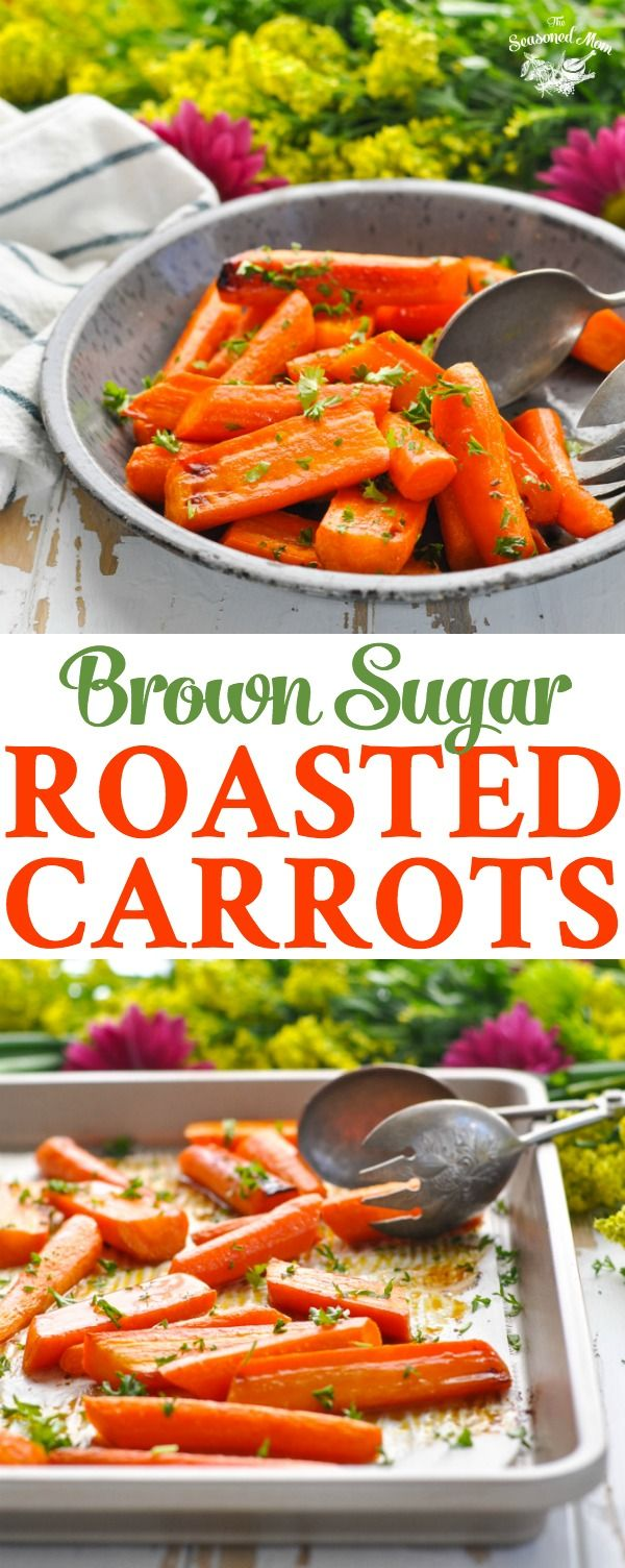 These Brown Sugar Roasted Carrots are a healthy 5-ingredient side dish that only requires about 10 minutes of prep!
