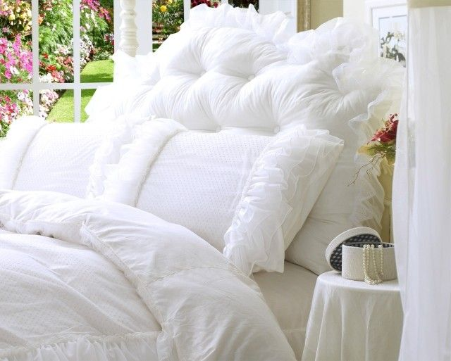 41 Best Images About White Ruffle Duvet Cover On Pinterest