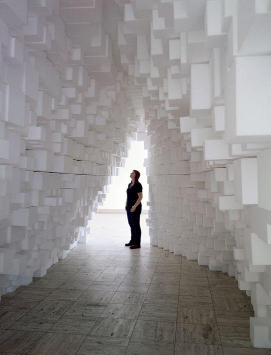 Boijmans Van Beuningen Museum, Rotterdam. Styrofoam blocks (2009)  #museum #art #rotterdam #thisisnhow #cityguide