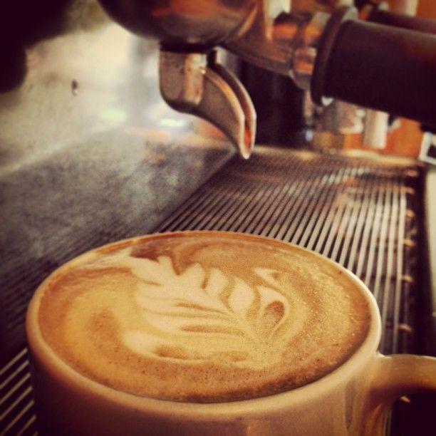 """""""Cappuccino con arte latte de Rosetta"""""""