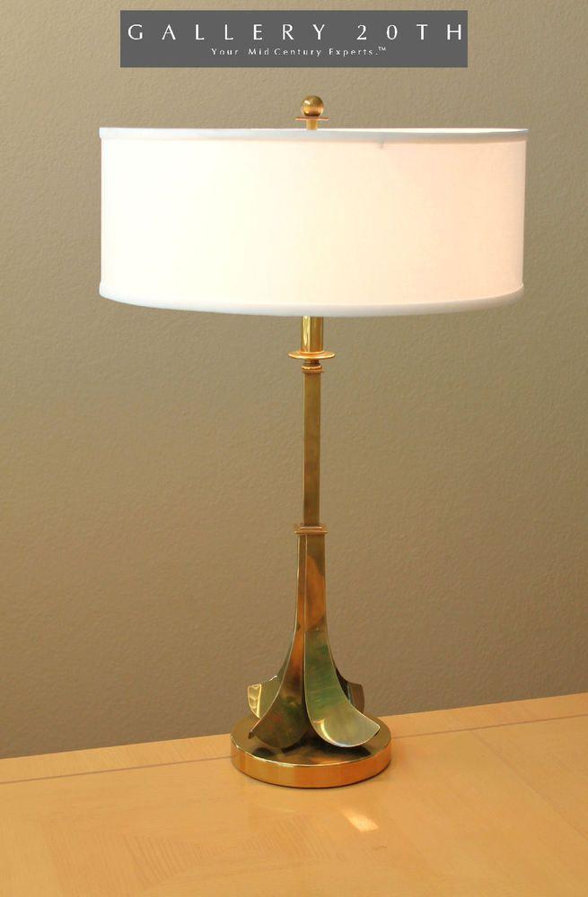 Rare Hart Ociates Mid Century Modern Br Table Lamp