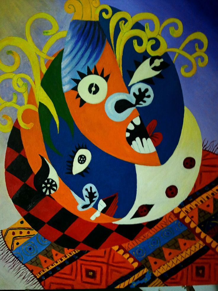 Masks Mural by Rassen Haddad 2013