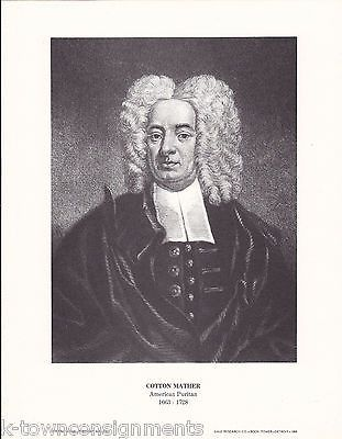 Cotton Mather American Puritan Vintage Portrait Gallery Poster Print