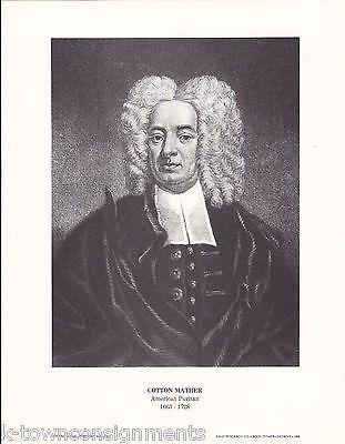 Cotton Mather American Puritan Vintage Portrait Gallery Poster Print