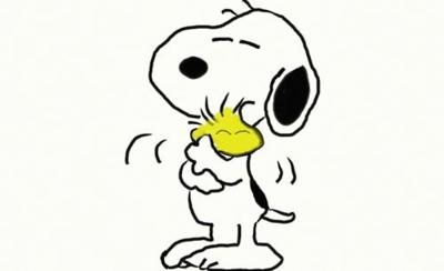 Funny story, when Brian (my husband) and I were little we each had a Peanuts stuffed animal... he had Snoopy, I had Woodstock...meant to be! I <3 peanuts!