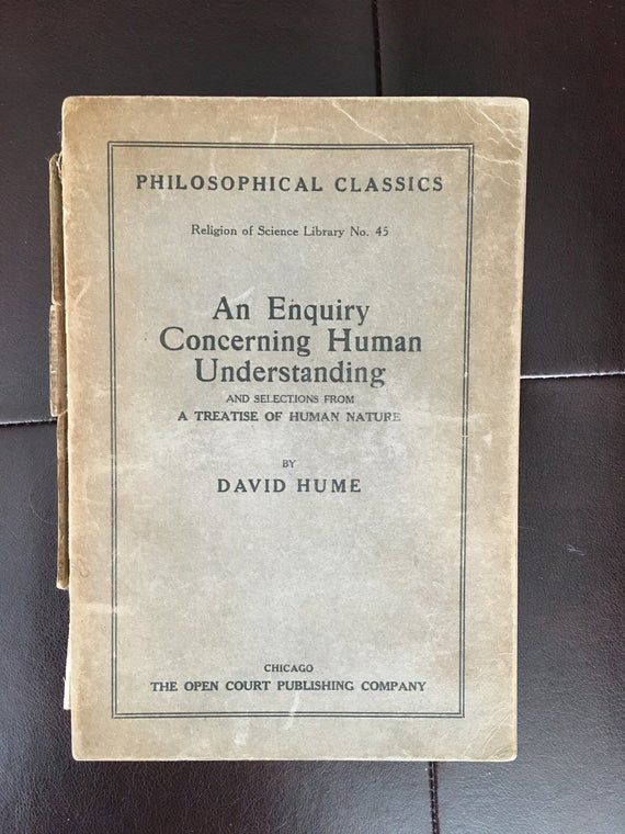 An Enquiry Concerning Human Understanding David Hume Etsy David Hume Understanding Philosophy
