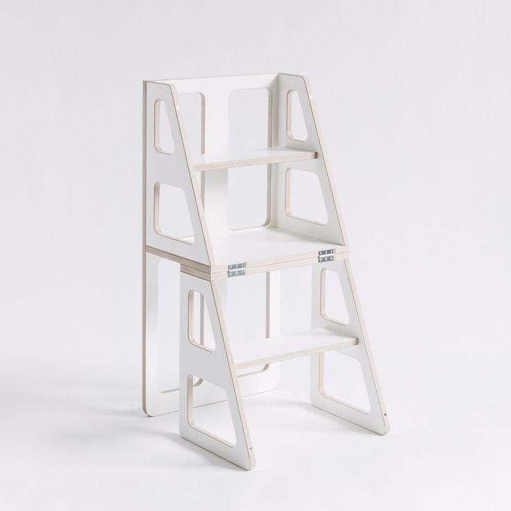 Tipstar ist Stuhl und Leiter in einem. Somit nicht nur ein optischer Hingucker sondern auch ein praktischer multifunktionaler Gebrauchsgegenstand