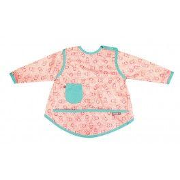 Babero o bata manualidades de 18 a 36 meses de muñecas rusas en rosa y  verde agua. En nuestra shop 12,45 €