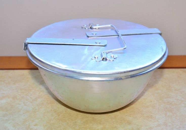 The aluminium Pudding Steamer . . oh, the metals we used then!!!