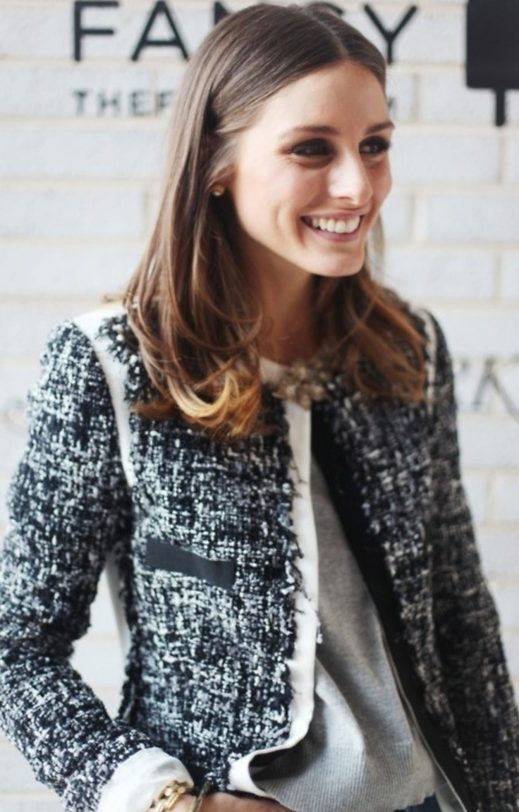 Olivia Palermo in a classic Chanel tweed jacket