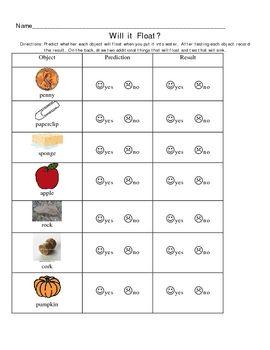 sink or float worksheets for kindergarten sink or float experiment with water printable for. Black Bedroom Furniture Sets. Home Design Ideas
