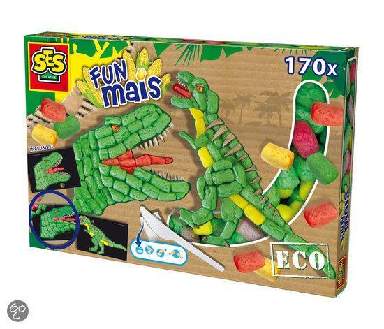 Met Fun Maïs van Ses creëer je de mooiste figuren. Door de bouwsteentjes nat te maken kun je ze aan elkaar plakken. In deze doos zitten 170 stukjes Fun Mais, twee legkaarten met extra detail, een mesje (ook van mais gemaakt), een sponsje en een instructieboekje.