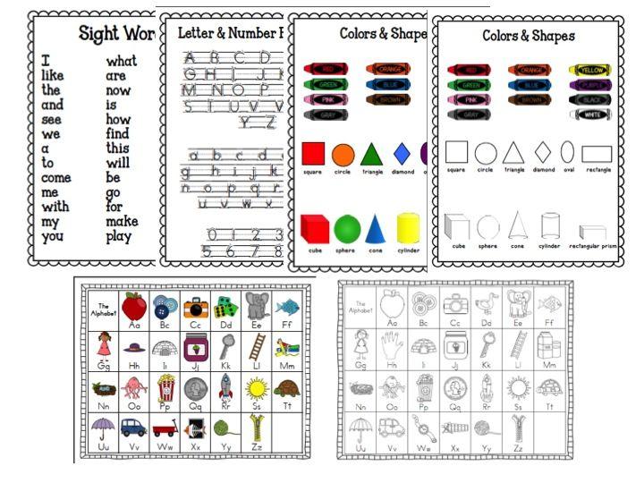 Kindergarten Homework Folder Covers | kindergarten homework folders, time4kindergarten.com