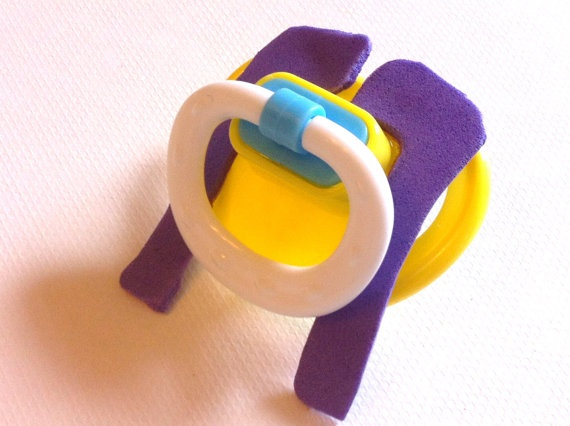 Wacko for Flacco Fu Manchu Mustache Pacifier by BeadTurtle on Etsy, $5.00