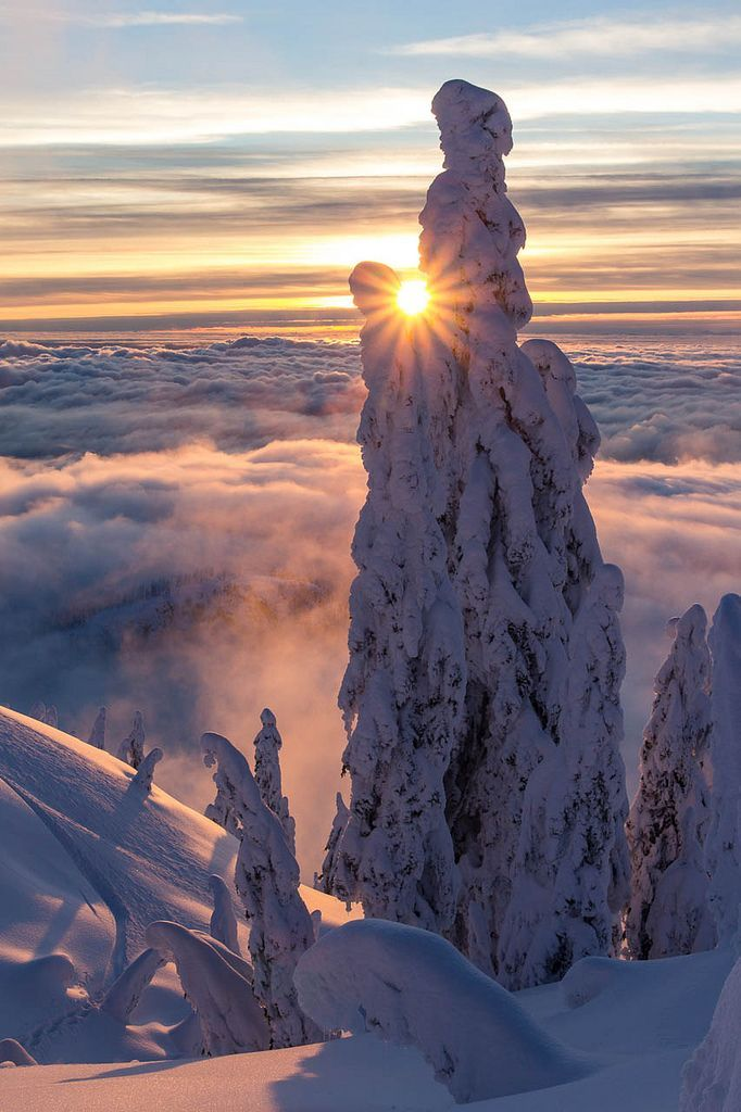 Sunset at Mount Seymour, North Vancouver, British Columbia, Canada