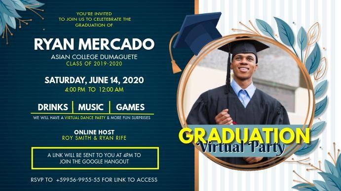 Online Grad Party Invitation Digital Display Grad Party Invitations Party Invite Template Party Invitations