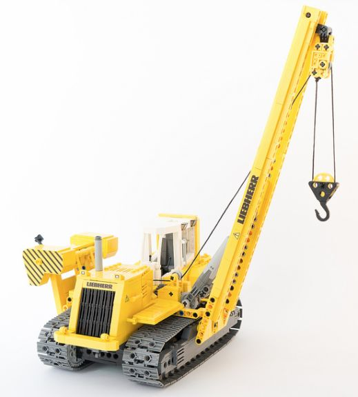 Mobile Crane Explained : Lego liebherr pipe layer rc hobby