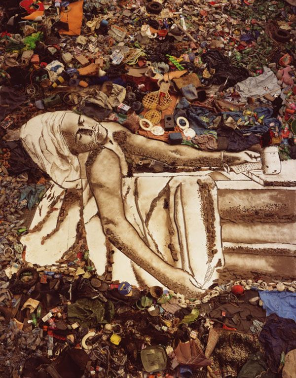 vik muniz- David's Marat interpretation. saw the documentary about this and it was amazing